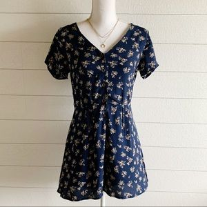 Wild fable navy blue floral romper
